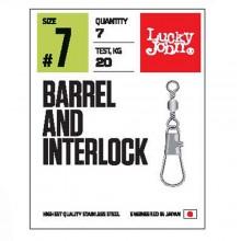 Вертлюги c застеж. LJ Pro Series BARREL AND INTERLOCK Black 007 7шт.