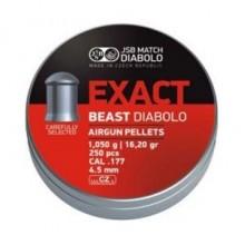 Пули пневматические  JSB DIABOLO EXACT BEAST (250шт) 1,050гр 4,5мм