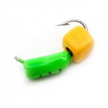 """Мормышка вольф Столбик 1,5мм с """"Сырным"""" кубиком (зеленый) 0,3гр"""