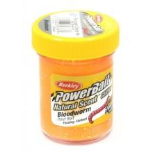ПАСТА ФОРЕЛЕВАЯ Berkley - Natural scent TroutBait Bloodworm Fluo Orange (мотыль)