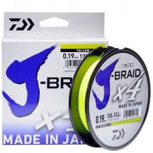Леска плетеная DAIWA J-Braid X4 135м (желтая)