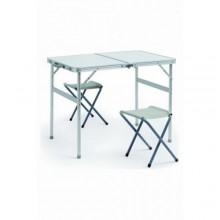 Стол туристический складной  (стол+2 табуретки) 90х60 (алюминий)