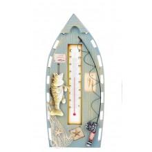 Декор настенный лодка с термометром
