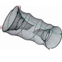Верша рыболовная на пружине D=400мм, два кольца, два входа, длина 80 см