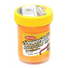 ПАСТА ФОРЕЛЕВАЯ Berkley - Natural scent TroutBait Bloodworm Fluo Orange (мотыль)