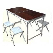 Набор мебели стол и 4 стула 120х60х70см
