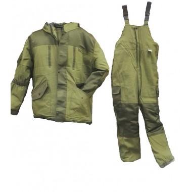 Костюм мужской горка  зима, ткань палатка/оксфорд, цвет хаки, синтепон+флис